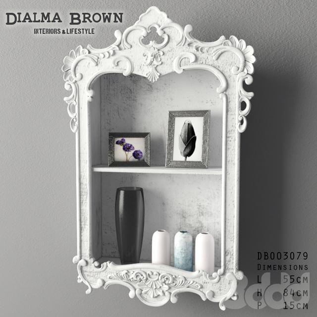 Dialma Brown shelf