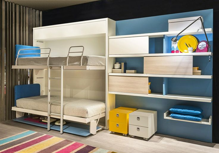 Pull-down bunk bed KALI DUO BOARD | Pull-down bed - CLEI