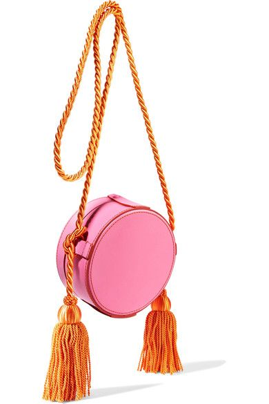 Pink and orange leather (Calf), pink calf hair Snap-fastening front flap Weighs approximately 1.5lbs/ 0.7kg Made in Italy