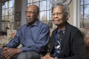 Gladys West (right) and her husband Ira West were fellow mathematicians who worked at the Naval Support Facility Dahlgren. For 42 years, mathematician Gladys West worked at the naval base in Dahlgren, Virginia, as part of the team that developed the Global Positioning System (GPS) in the 1950s and 1960s, according to the Stamford Advocate. Most people didn't know of the 87-year-old's barrier-breaking achievements thanks to Gwen James, a member of Alpha Kappa Alpha Sorority, Inc.