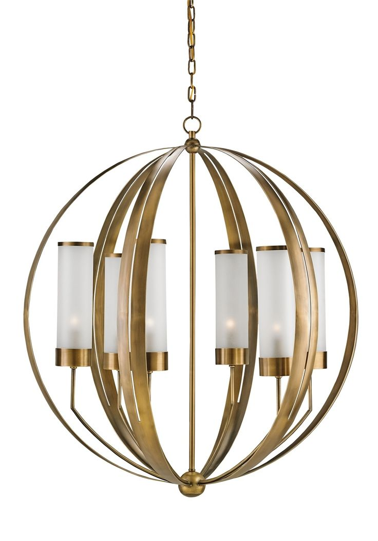 Currey and company 9854 agnes six light chandelier antique brass finish chandelier chandelier lightingmodern
