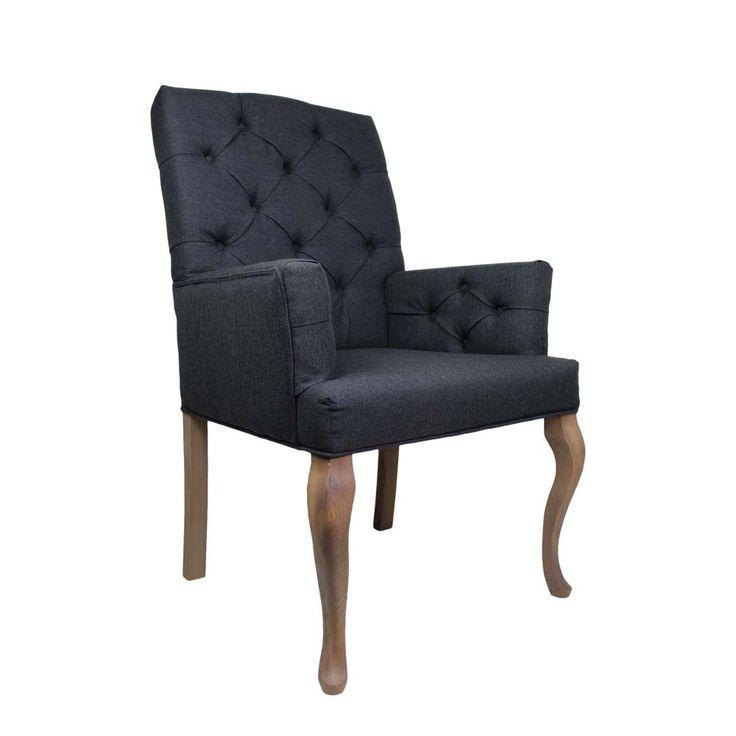 Esstischsessel In Dunkelgrau Stoff Buche Massiv  Sessel,armlehnstuhl,esszimmerstuhl,küchenstuhl,polsterstuhl,esszimmersessel  ,armlehnenstuhl,stuhl Esszimmer ...