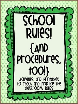 Activities to teach and practice rules and procedures!