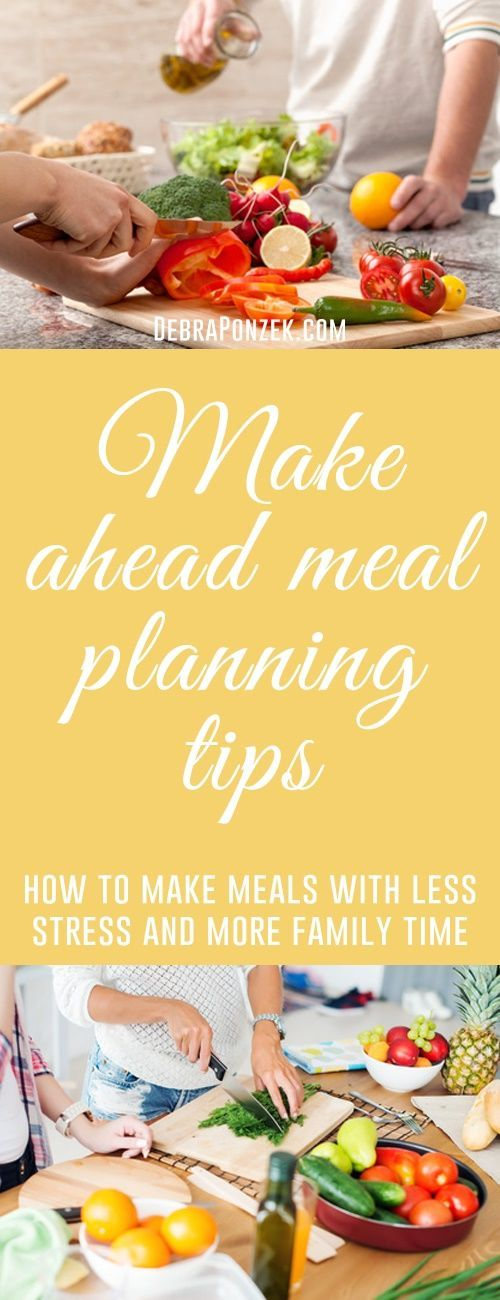 There are many ways to help you make it through a week of cooking meals, whether for the family or just for one. Make-Ahead meals are great but sometimes even those need a few hacks to get you through. There are many different ways you can make entire meals ahead of time, or just take care of a couple steps in your recipe the night before. The choice is yours, but make ahead meal planning is your best bet to freeing up time in your day.