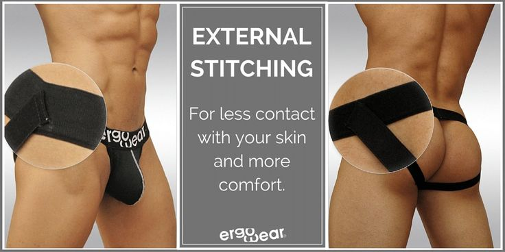 External stitching, for less contact with your skin and more comfort