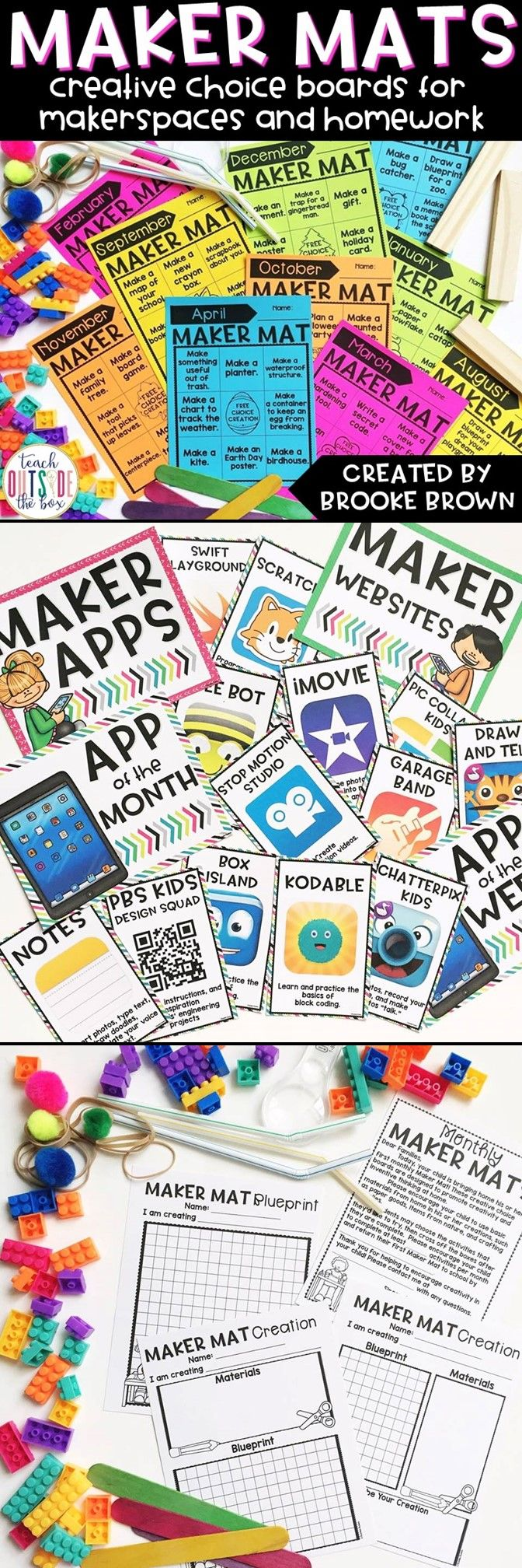 All New Maker Mats: Creative monthly choice boards for MakerSpaces and Homework! | Elementary STEM | STEAM