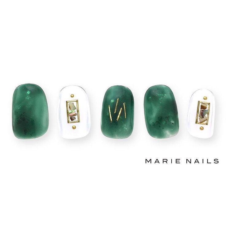 #マリーネイルズ #marienails #ネイルデザイン #かわいい #ネイル #kawaii #kyoto #ジェルネイル#trend #nail #toocute #pretty #nails #ファッション #naildesign #awsome #beautiful #nailart #tokyo #fashion #ootd #nailist #ネイリスト #ショートネイル #gelnails #instanails #marienails_hawaii #cool #green #clear