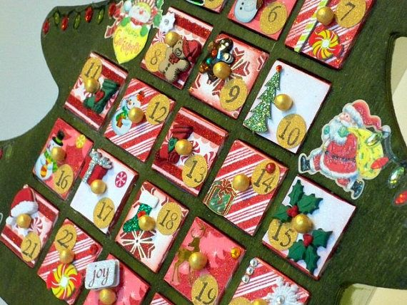 Christmas Tree Advent Calendar Countdown by AuriesDesigns ...