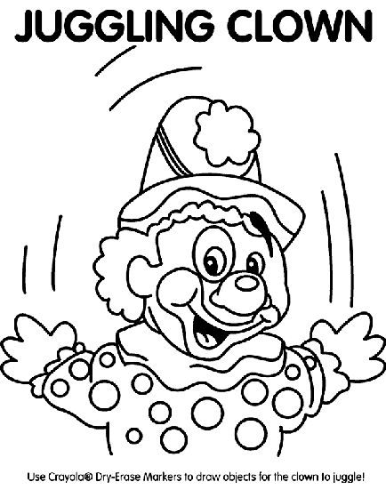 juggling clown juggling clown coloring page