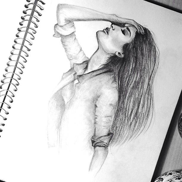 Pencil drawing by sandra salanowski