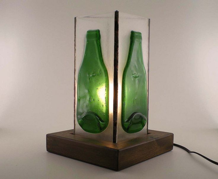 Slumped bottles-Industrial lamp-Lighting lamp by BottlesAndOthers