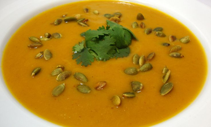 Spicy Chipotle Pumpkin Soup with Toasted Pepitas - Powered by @ultimaterecipe