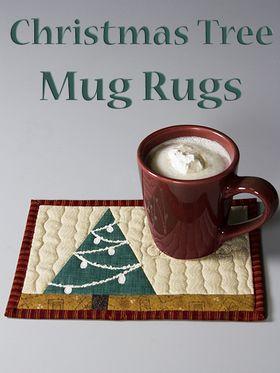 Phillips Fiber Art: Christmas Tree Mug Rug