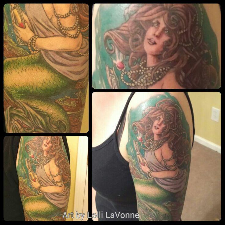 Sleeve Ink Tattoo Arm Color Tattoo Mermaid Saint: 16 Best Tattoo Images On Pinterest