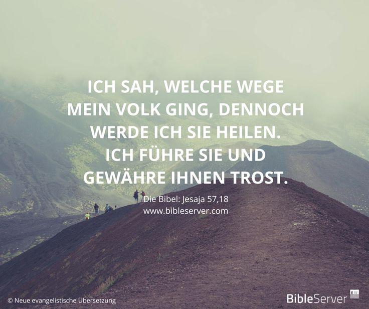 """""""Ich sah, welche Wege mein Volk ging, dennoch werde ich sie heilen. Ich führe sie und gewähre ihnen Trost."""" Ein kleiner Einblick in die Geschichte Gottes mit den Menschen. Die gesamte Geschichte findest du auf BibleServer.com   Jesaja 57,18"""