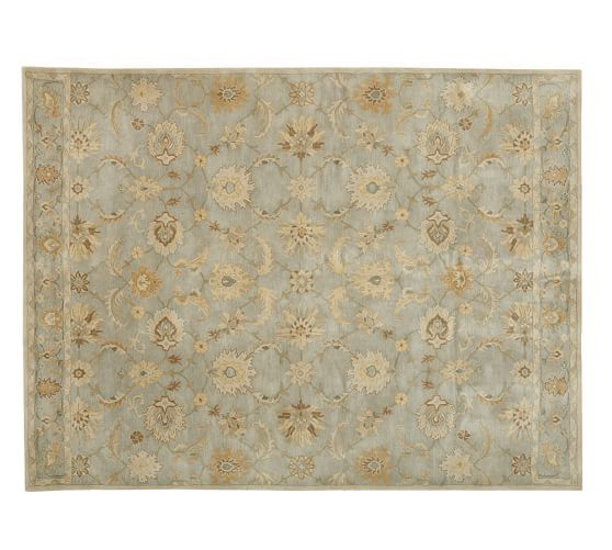 Gabrielle persian style rug blue pottery barn floors for Pottery barn carpet runners