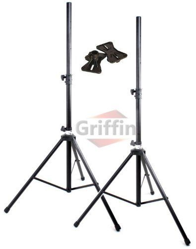 175lb Load Pair PA Speaker Monitor Stage Stands on Tripod Pro-Audio Mount DJ 2 Griffin by Griffin Stands. Save 44 Off!. $55.95. Griffin MX series. What an extremely durable set of deluxe DJ speaker stands! Each of these standard pro-audio speaker stands adjust from 42 inches to 73 inches high. Each stage speaker stand effortlessly supports a maximum of 175 lbs while the high quality steel construction reduces these monitor speaker stands gross weight for exceedingly manageabl...