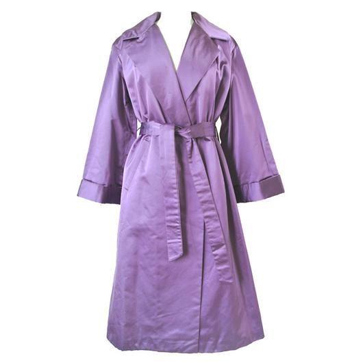 Purple satin 1950s vintage evening coat - Vintage Clothing, Vintage Stock, Vintage Dresses, Vintage Shoes UK
