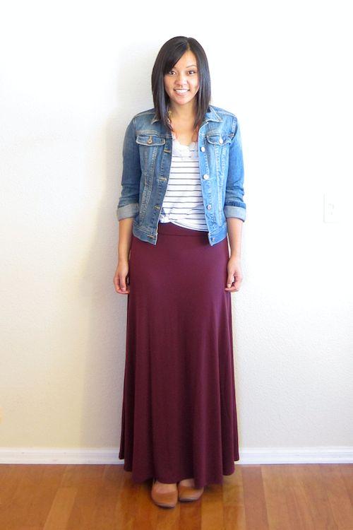17 best Burgundy maxi skirt images on Pinterest