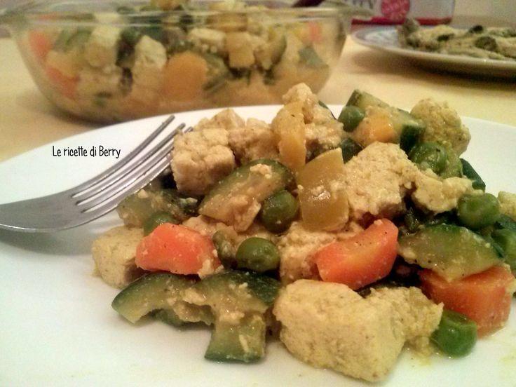 ***** tofu e verdure con salsa curry