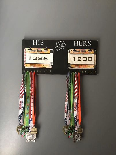 His & Hers Race Bib and Medal Display Runner's by FlawedtoFabulous