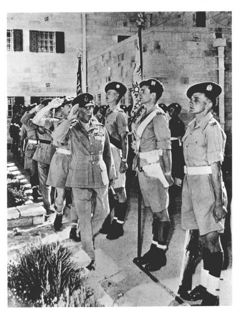 Abandoning Ship | Before Their Diaspora.  General Sir Alan Cunningham, British high commissioner, inspecting a guard of honor as he left his official residence in Jerusalem for the last time, 14 May 1948. The British Mandate for Palestine came to its ignominious end on 15 May 1948.