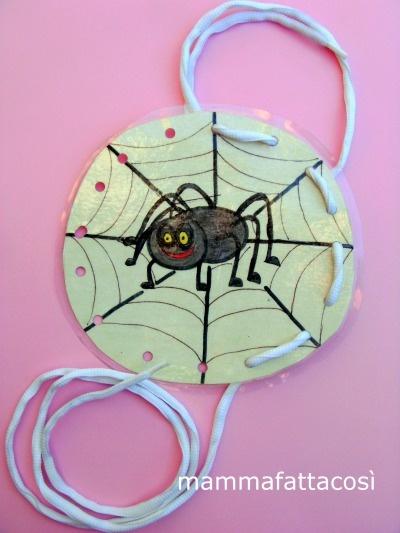 telaio montessoriano del ragno Giovanni