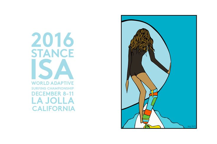 Surf Art for ISA Adaptive Surf Championship Andy Davis Designs