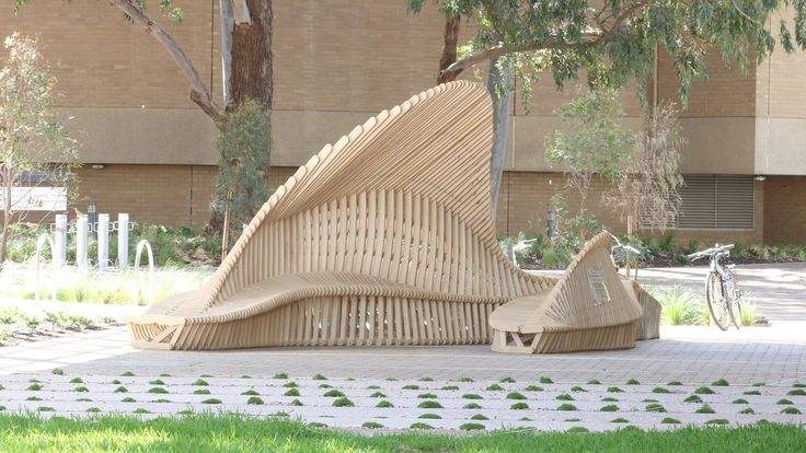 Articulated Timber Ground Pavilion by Studio 15, Power to Make & University of Melbourne
