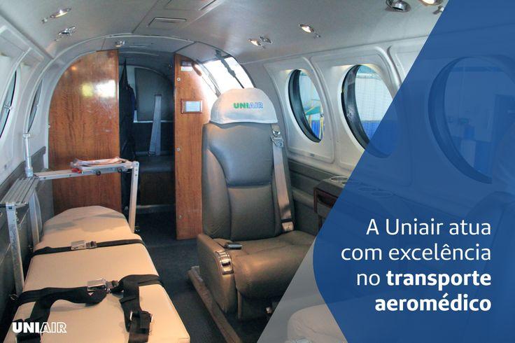 Somos a única empresa da região sul a realizar o transporte aeromédico. Quando precisar chame a Uniair. Para mais informações ligue: 0800 519 519