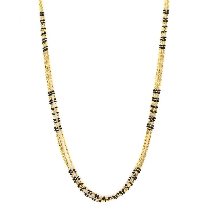 GRT | Collections | Gold | Chains | Bridal Black Beads Chain
