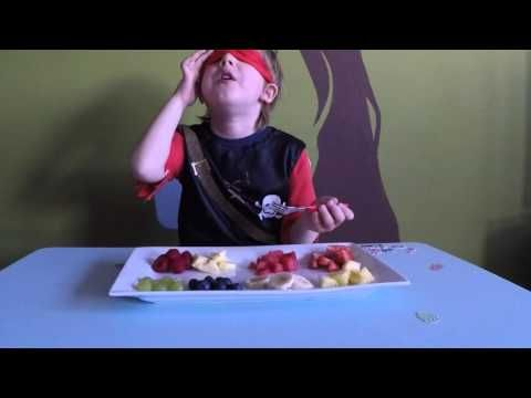 5 a day popular fresh food challenge with different fruits