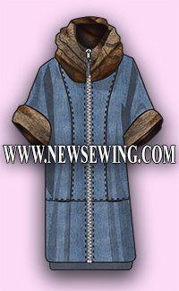 Туника – одежда для межсезонья. Готовая выкройка бесплатно.