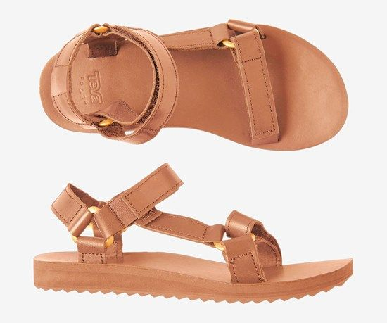 Teva tan leather sandals