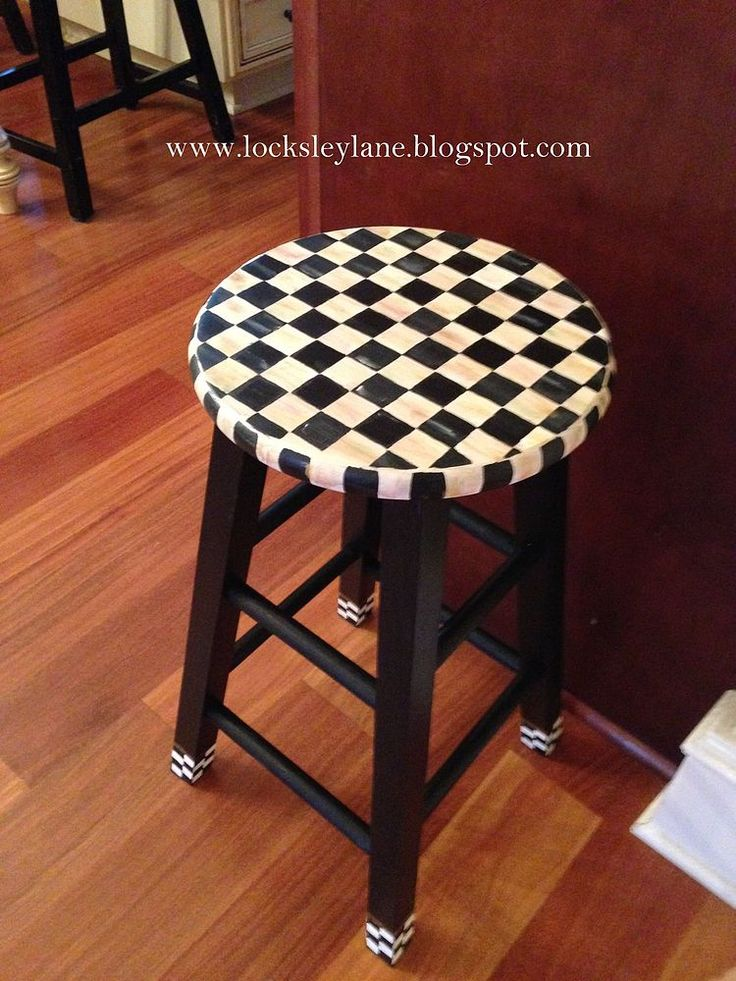Painting A Stool With A Mackenzie-Childs Look | Hometalk