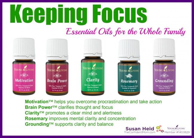 Keeping Focus - Essential Oils for the Whole Family | TheConfidentMom.com