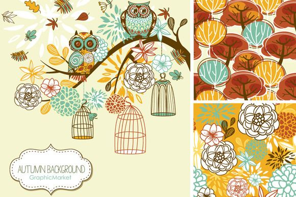 Check out Fall Clip Art, autumn, thanksgiving by GraphicMarket on Creative Market