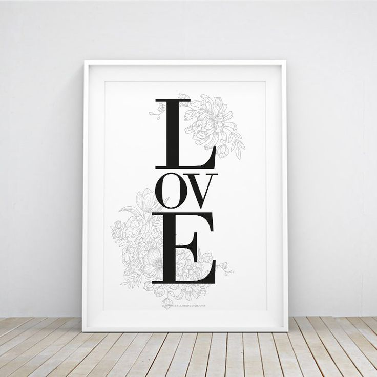 LOVE printable wall art | nursery WallArt | decoration | instant download | home decor by callimadesign on Etsy