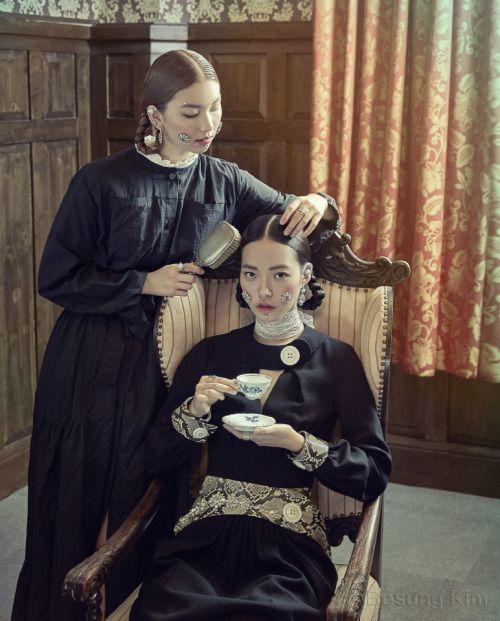 Seon Hwang, Kim Jin Kyung by Kim Bo Sung for Voguegirl Korea Aug 2015
