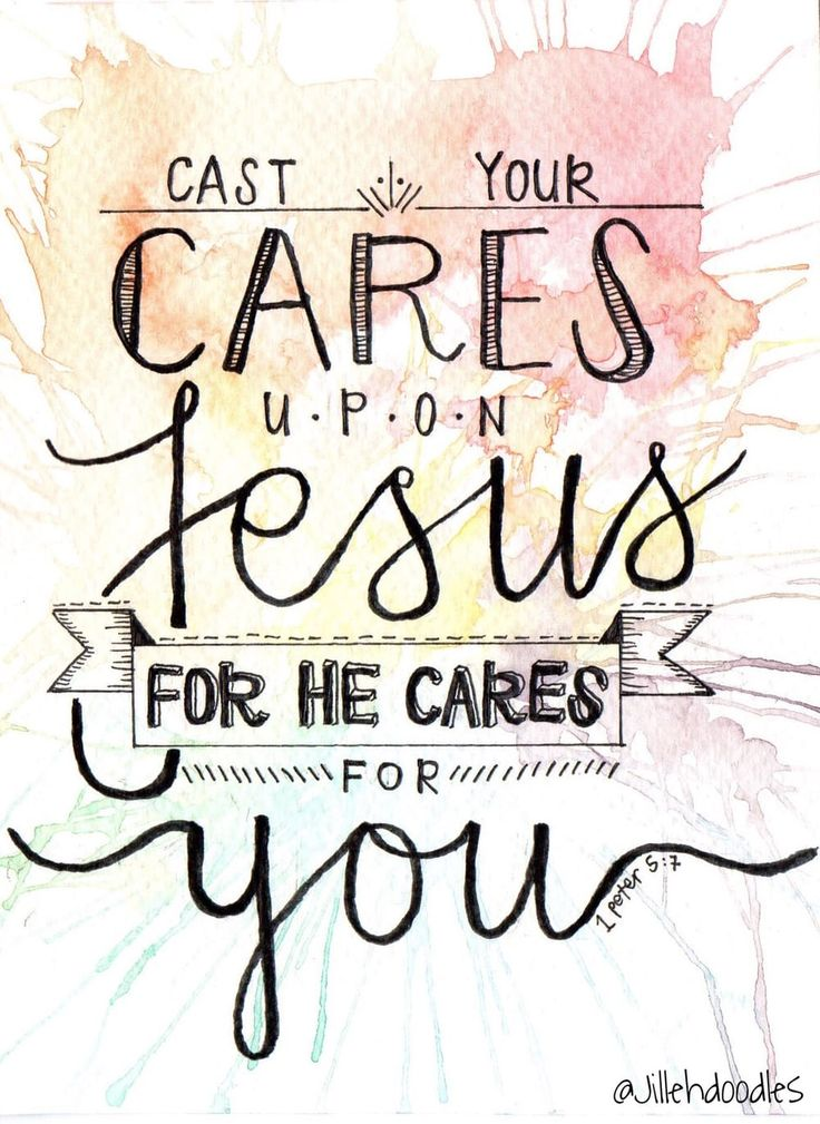 Cast Your Cares Postcard // 1 Peter 5:7 via Jillehdoodles. Click on the image to see more!