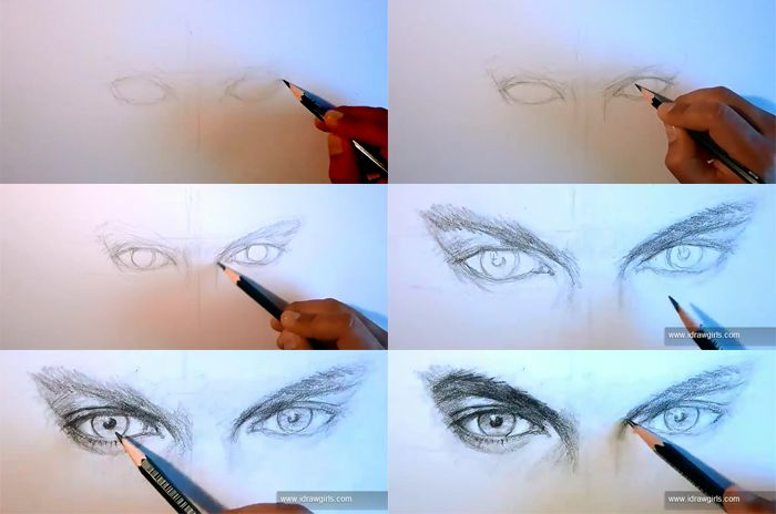 how to draw eyes man