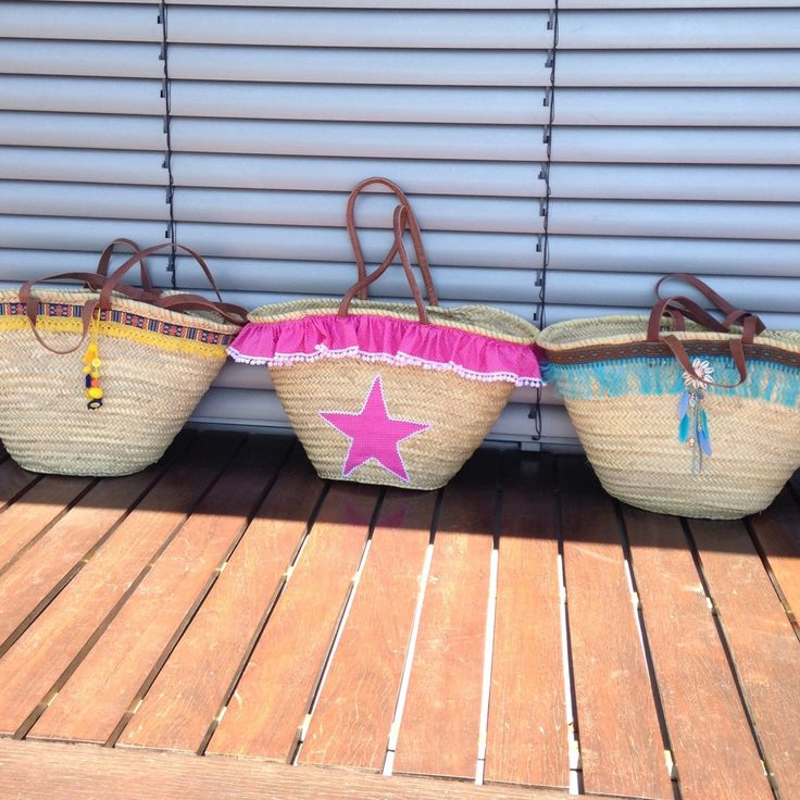 New listing for these beautiful beach straw bags. Check it out!