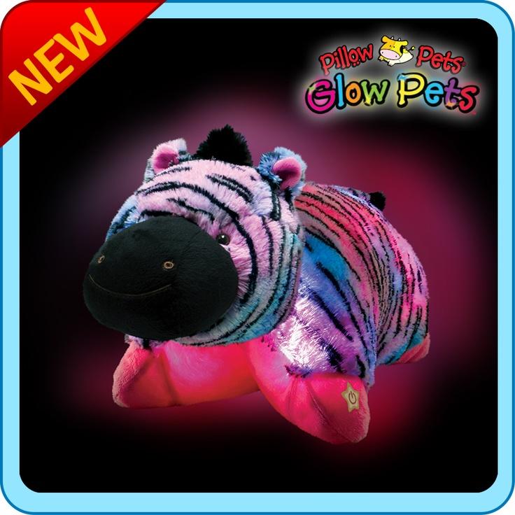 Glow Pets :: Glow Pet Zebra - My Pillow Pets® | The ...