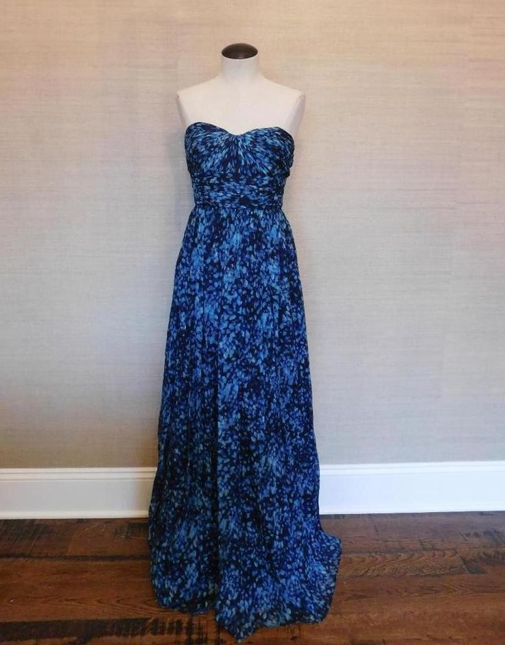 J crew heidi long dress in silk chiffon gown