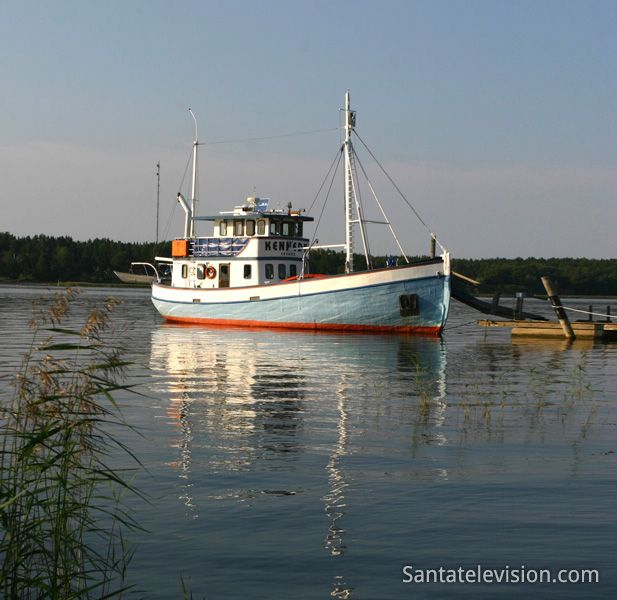 A boat in Finnish archipelago around Tammisaari