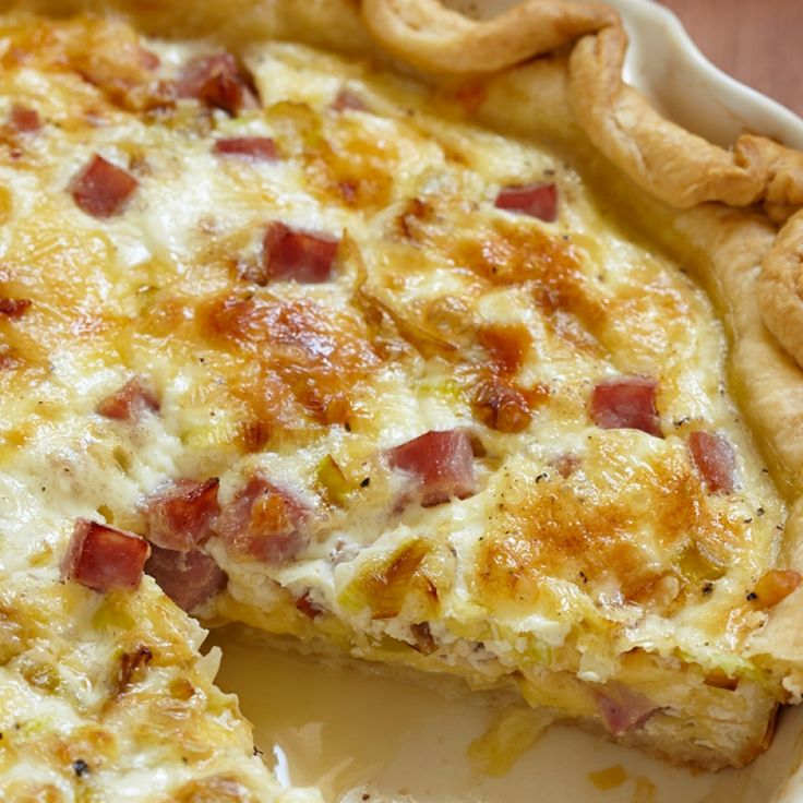 This easy quiche Lorraine recipe uses simple basic ingredients and also gives you the recipe for one 9 inch pie crust from scratch.. Easy Quiche Lorraine Recipe from Grandmothers Kitchen.