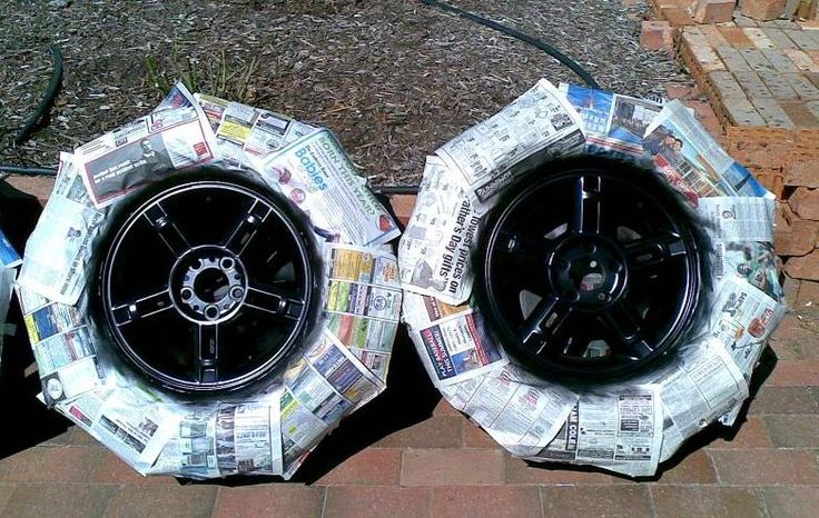 How To Spray Paint Rims Gloss Black