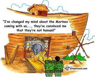 And thats how Devil Dogs got on the Ark.     Follow @SemperToon on Twitter