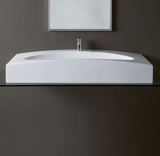 DU13 | Duemilasette Ceramica Simas Console 120 with single tap hole to be  mounted on stand