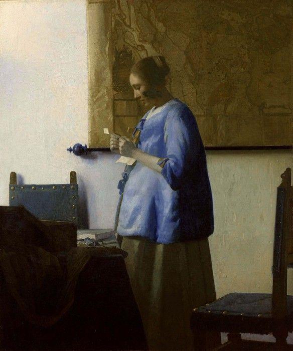 Женщина в голубом, читающая письмо. Ян Вермеер